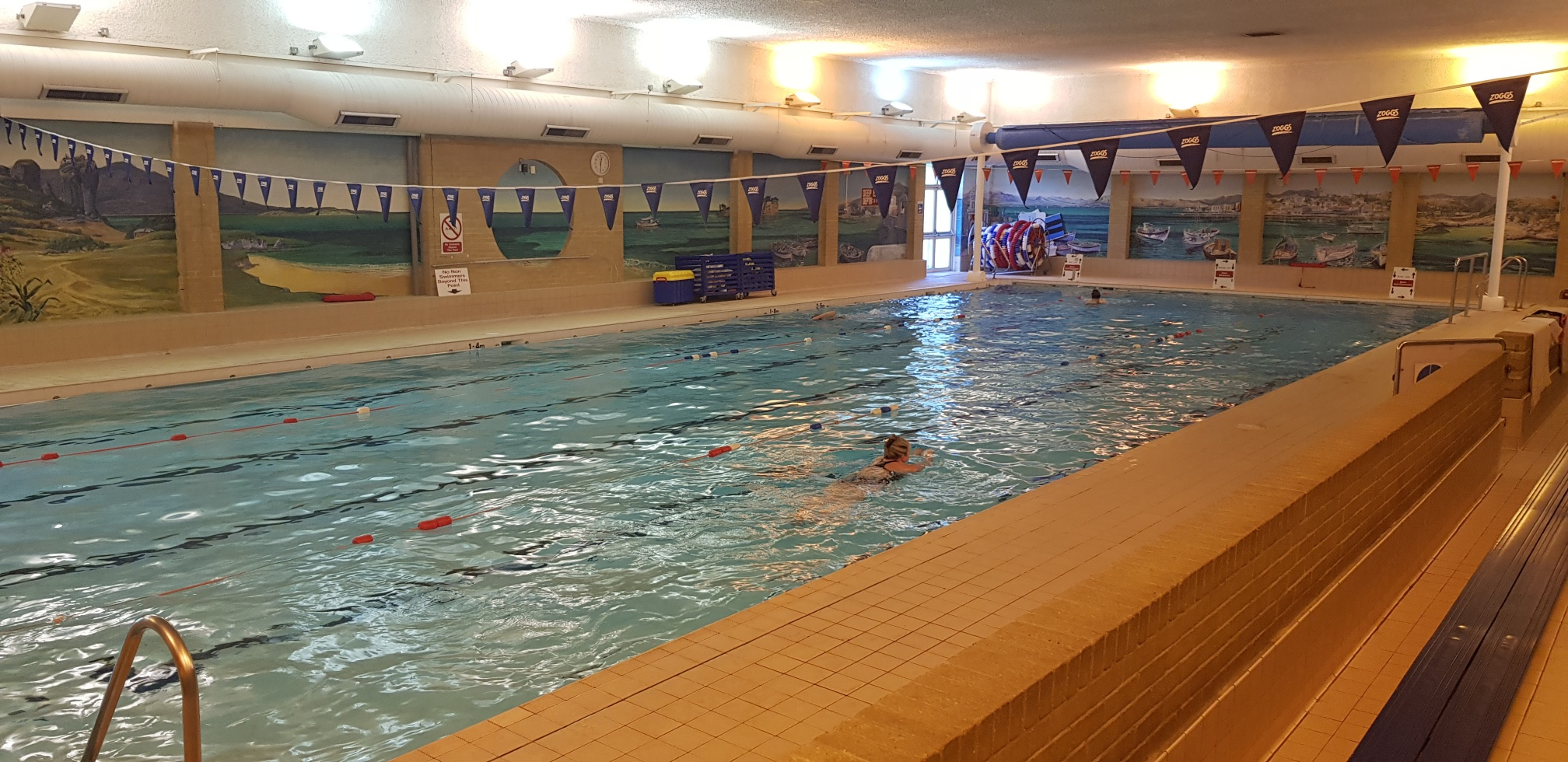 fanshawe indoor swimming pool with swimmers