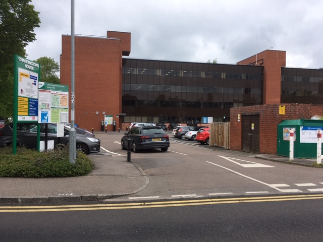 East Herts Council Charringtons building and car park