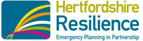 Hertfordshire Reslilience Emergency Planning in Partnership logo