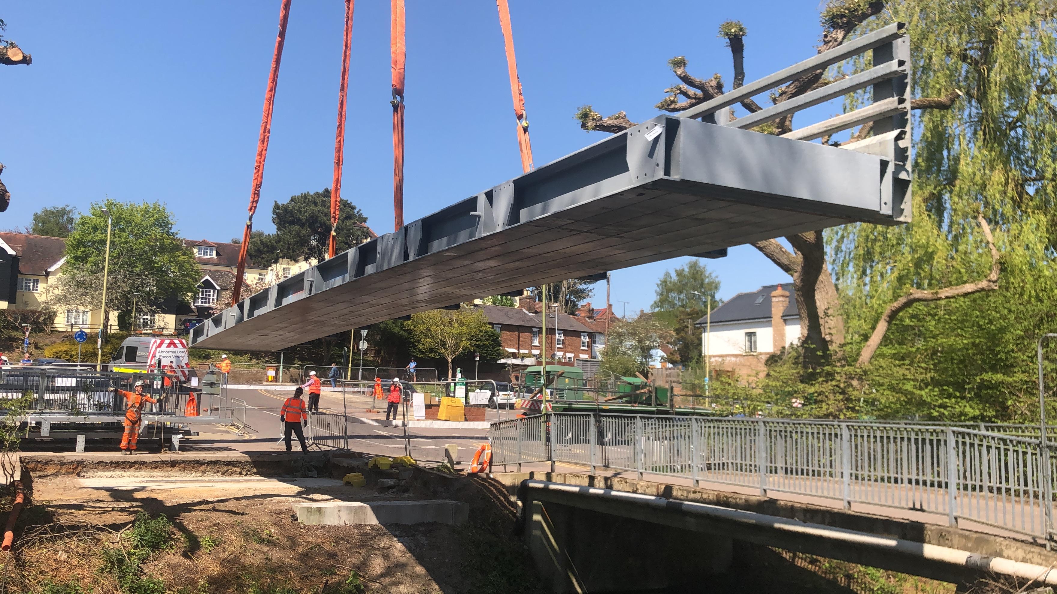 Grange Paddocks - bridge being removed