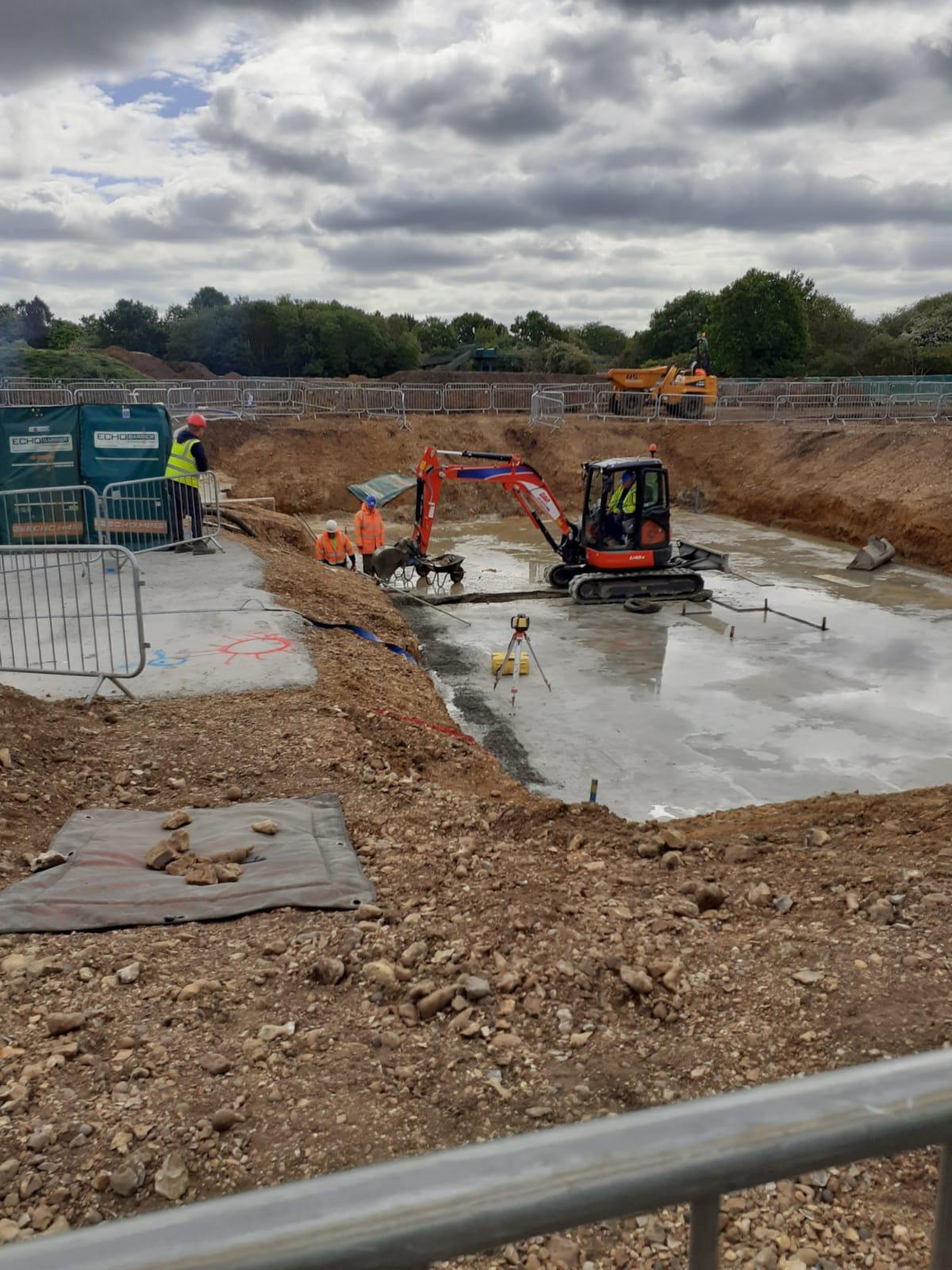 Grange Paddocks building site - week 9