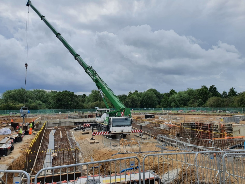 Construction of the main pool getting underway