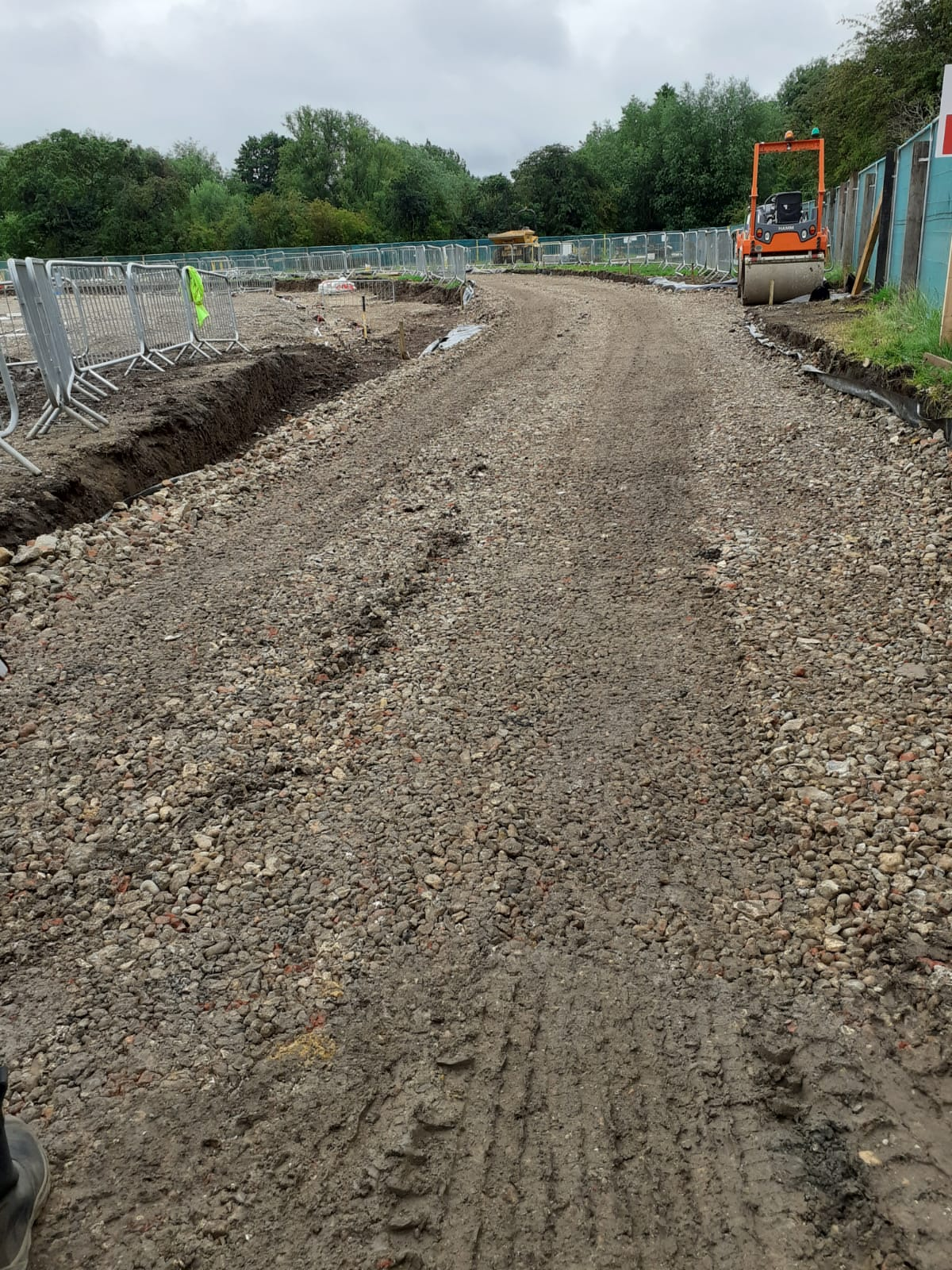The haul road at Grange Paddocks for construction traffic