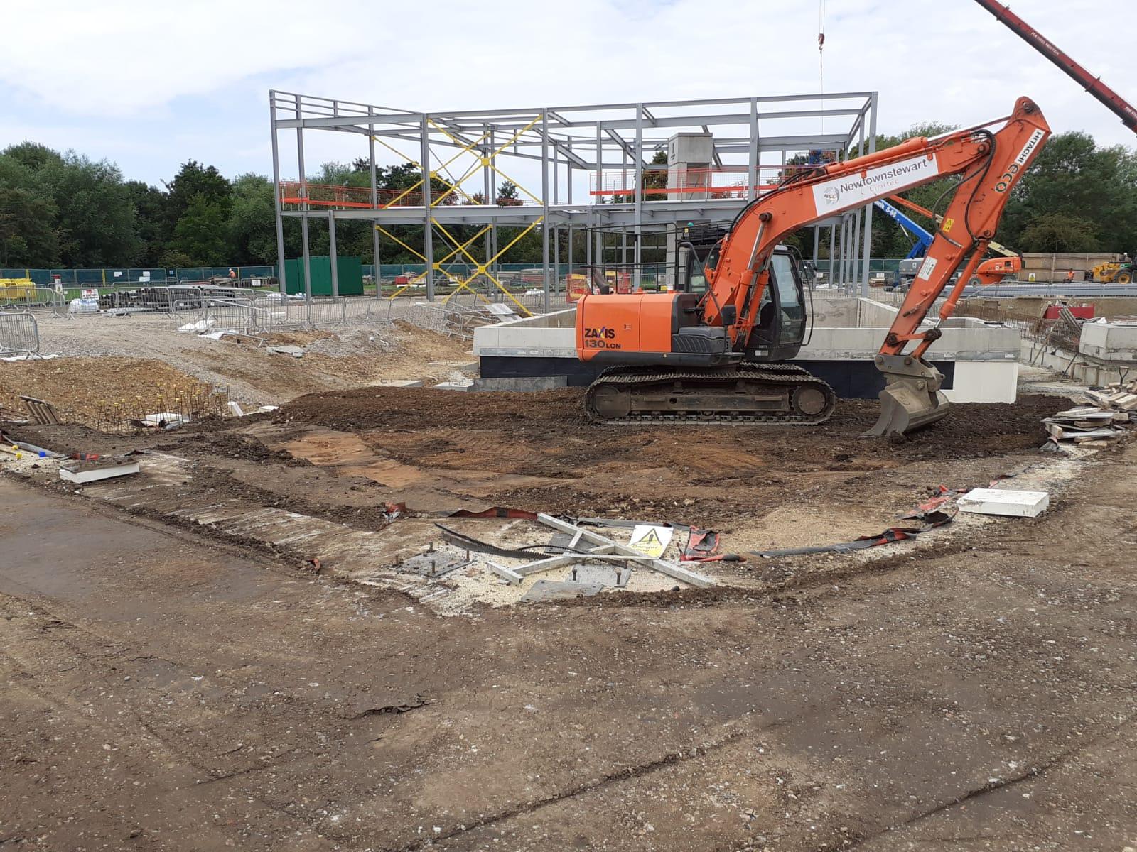 Progression of the steel works during week 19 on site at Grange Paddocks