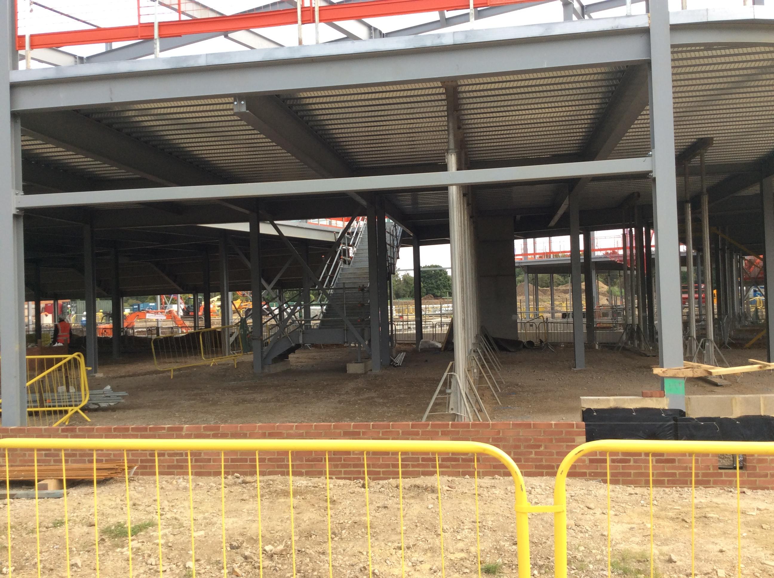 Grange Paddocks - 11.09.2020 - start of the brick work