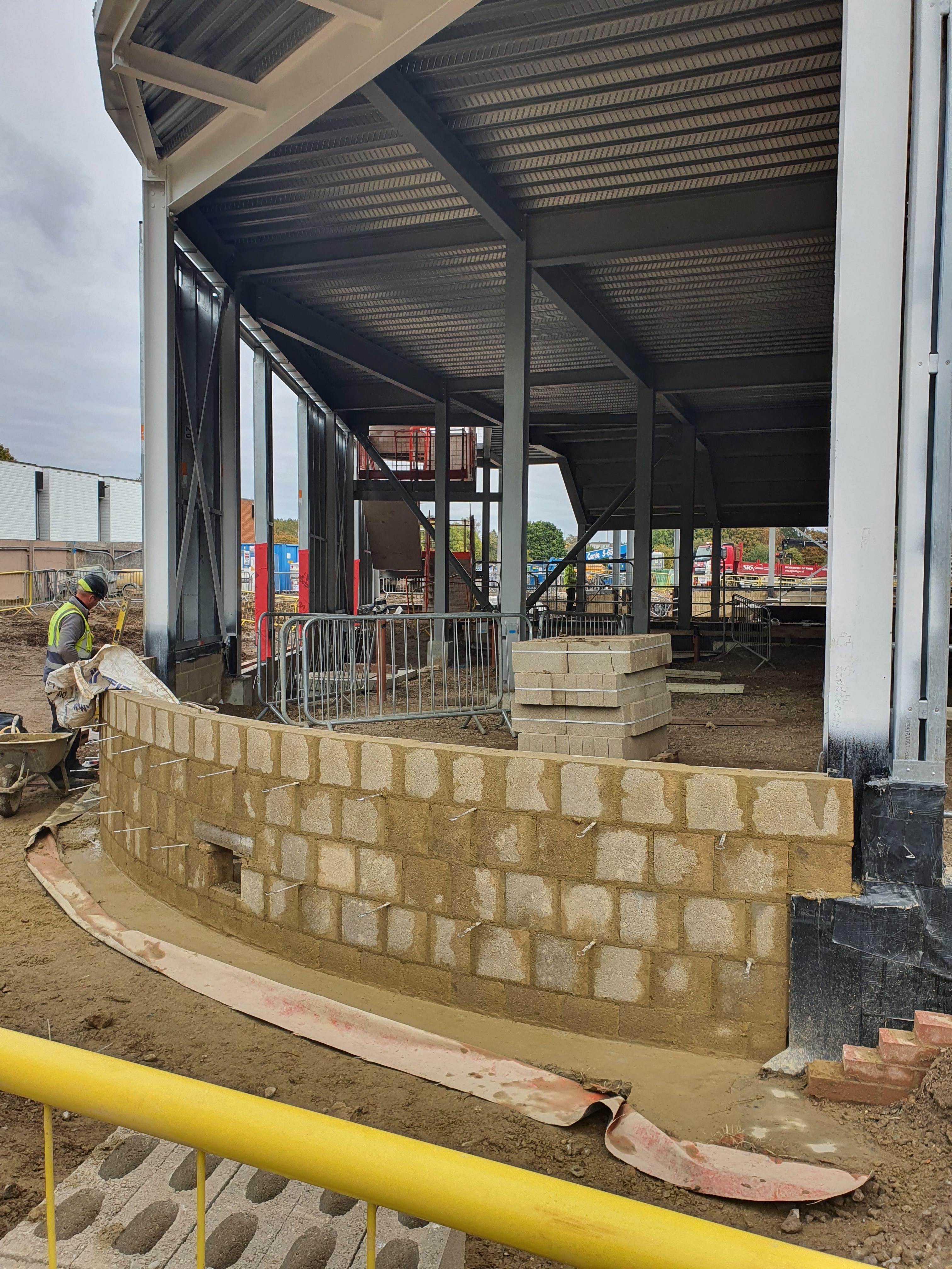 Curved brick work