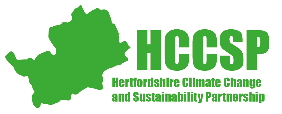 Hertfordshire Climate Change and Sustainability Partnership Logo in Green