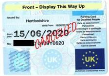 blank blue badge pass
