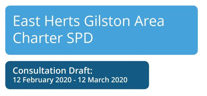 East Herts Gilston Area Charter SPD - Consultation Draft blue text boxes. Including dates 12 feb - 12 March 2020