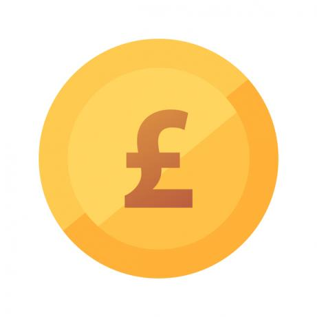 Pound illustration with large pound sign