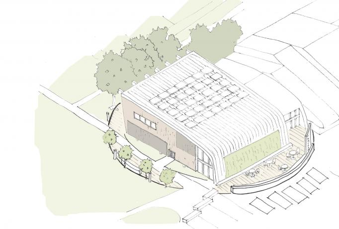 Artist impression of what Hartham Leisure Centre could look like.