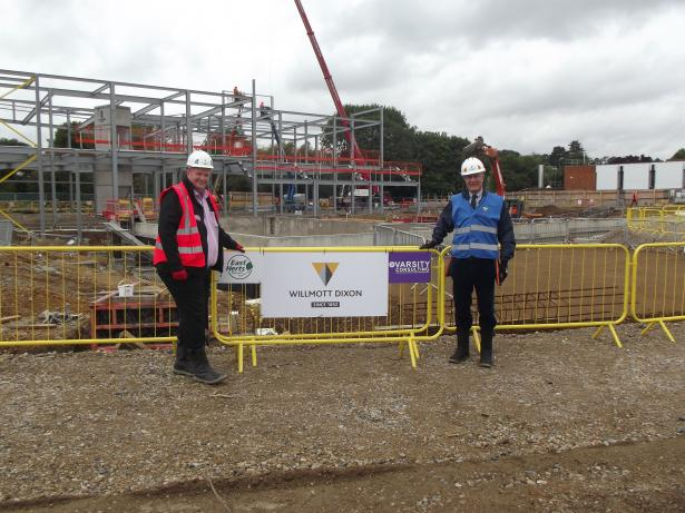 Steve Kitchen and Eric Buckmaster on site at Grange Paddocks