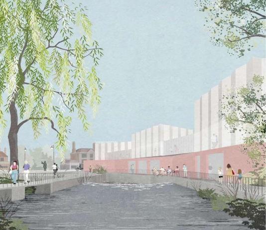 Hertford Theatre artist's impression - River side