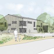 Artist Impression of Hartham Leisure Centre