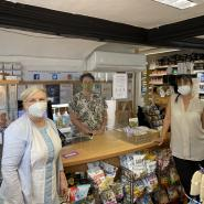 Cllr Linda Haysey in the Natural Health shop