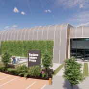 Artist impression of the living wall at Hartham Leisure Centre